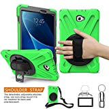 BRAECNstock Galaxy Tab A 8.0 Inch 2017 Case, Three Layer Drop Protection Rugged Protective Heavy Duty Case with 360 Degrees Rotatable Stand Cover for Samsung Galaxy SM-T380/T385 Case (Green)