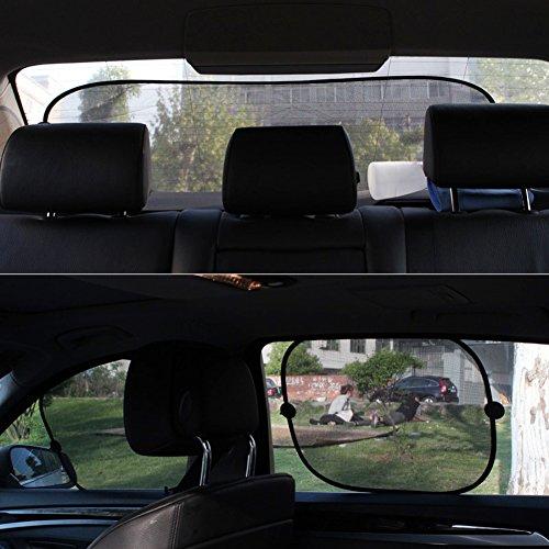 Gaweb Car Sun Shade Car Side Rear Window Screen Sunshade Windshield UV Protection Mesh Cover Visor by Gaweb (Image #6)