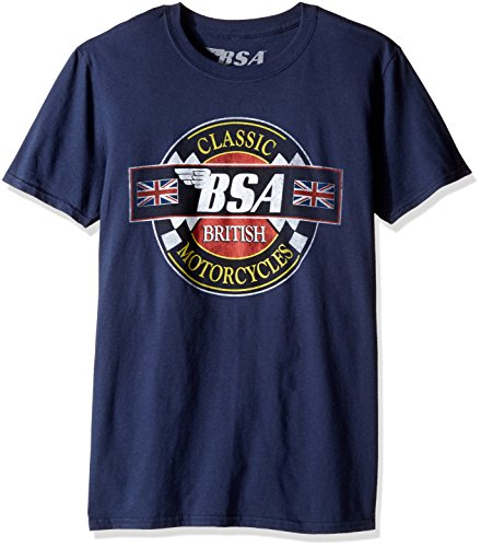 T-Line Men's BSA Motorcycles Classic Motorcycles Graphic T-Shirt, Navy, XX-Large