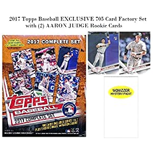 2017 Topps Baseball EXCLUSIVE MASSIVE 705 Card Complete Factory Set with TWO(2) AARON JUDGE ROOKIES & Bonus Wowzzer Mystery Pack with AUTOGRAPH or MEMORABILIA Card! Includes all Cards from Series 1 &2