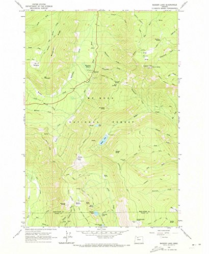 Oregon Maps | 1962 Badger Lake, OR USGS Historical Topographic Map | Cartography Wall Art | 18in x ()