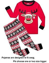 Christmas Tree Little Boy Girl PJS Long Sleeve Kid Sets