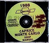 STEP-BY-STEP 1988 CHEVROLET MONTE CARLO & CAPRICE FACTORY REPAIR SHOP & SERVICE MANUAL & BODY REPAIR MANUAL CD