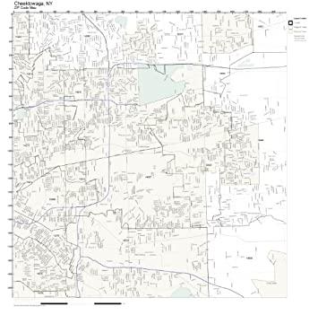 Amazon.com: ZIP Code Wall Map of Cheektowaga, NY ZIP Code Map Not