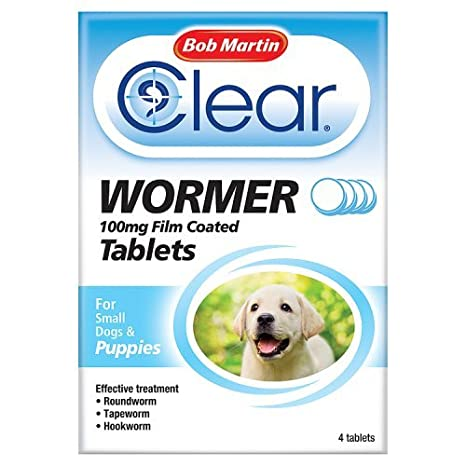 Bob Martin Clear Wormer Tablets For Puppies 4 Tablets Amazoncouk