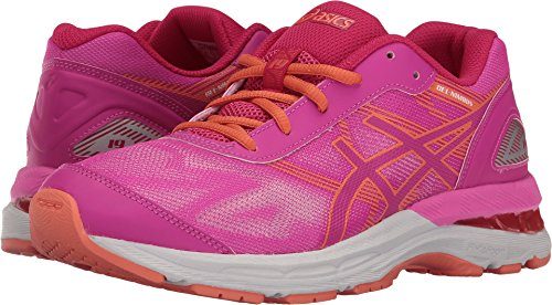 ASICS Girls' Gel-Nimbus 19 GS Running Shoe, Pink Glow/Coral Pink/Pale Pink, 3 M US Little - Kids Pale