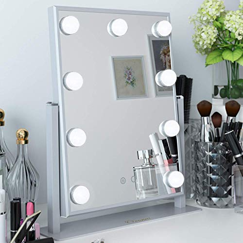 Ovonni Vanity Hollywood Makeup Mirror with 9 LED Lights