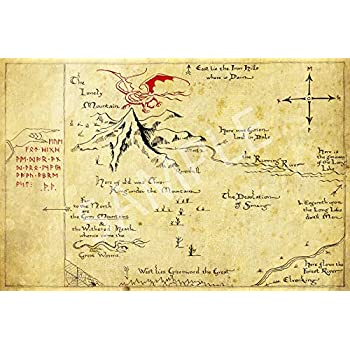 Best Print Store - The Lord of The Rings, Hobbit, Thror's Map Poster (11x17 inches)