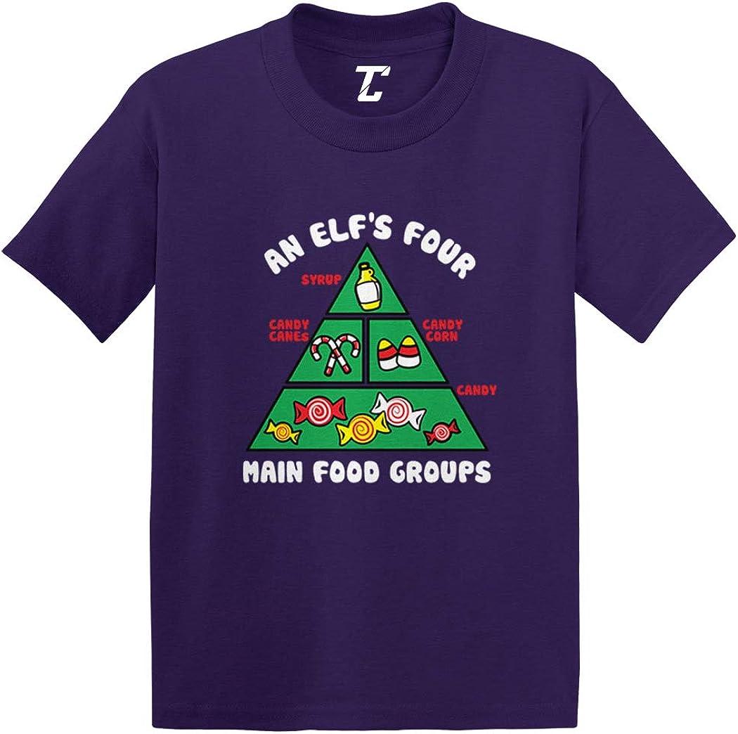 The Best Elfs Food Pyramid Kids T Shirt