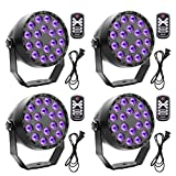 Black Lights U`King 18 x 2W UV LED Blacklight with DMX 512 and Remote Control Glow in The Dark Party Supplies Halloween Wedding Party Stage Lighting