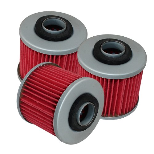 Caltric 3-Squeeze Oil Filter Fits YAMAHA RAPTOR 700 YFM700 YFM-700 SPECIAL EDITION 2007-2014