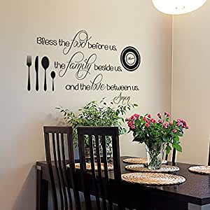 wall quote dining room decal religious wall decal kitchen wall decor