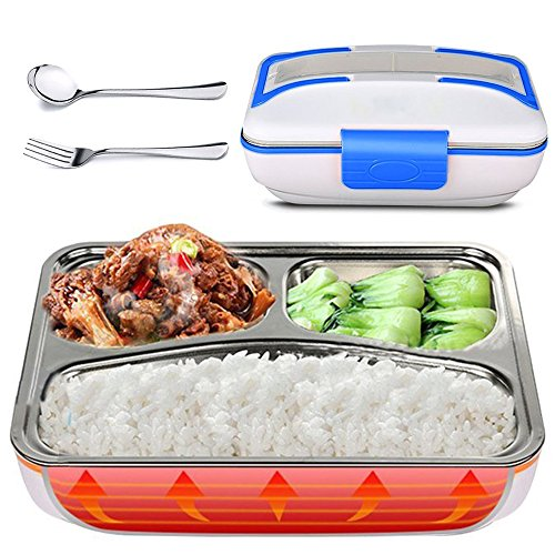 - LUCKSTAR Electric Heating Lunch Box - 110V Home Office Use Portable Electric Heating Food Warmer, Bento Meal Heater Lunch Box with 304 Removable Stainless Steel Container