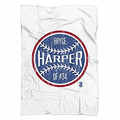Bryce Harper Ball B Washington DC Fleece Blanket