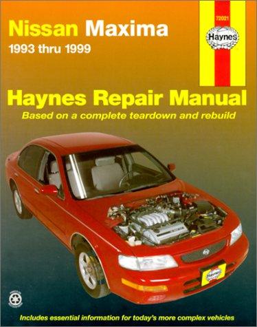 Read Online Nissan Maxima: 1993-1999 (Haynes Repair Manual) ebook