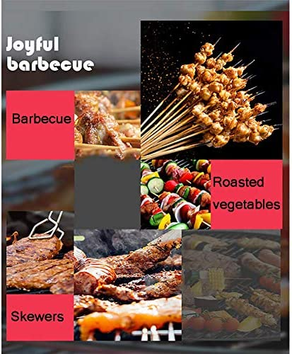 Zzzy Portable Barbecue Au Charbon, Bouilloire Original Haut De Gamme Barbecue Au Charbon, Patio Cour Arrière Cuisine, Cour Extérieure, Rôti De La Viande, Pique-Nique