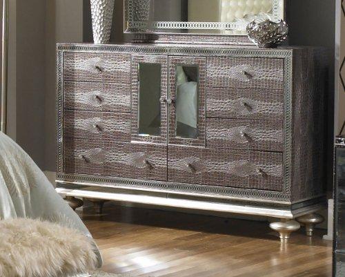 - Aico Hollywood Swank Dresser in Amazing Gator Leather by Michael Amini