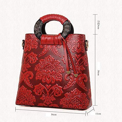 Defect en à pour bandoulière cm Oblique Carrés Main Sac 30 à Lady Femme Simple Fleurs Sac 11 A Relief 30 rxYtqrFO