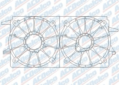 Clips ACDelco 15-80218 GM Original Equipment Engine Cooling Fan Shroud Kit with Shroud and Bolts ADW1580218