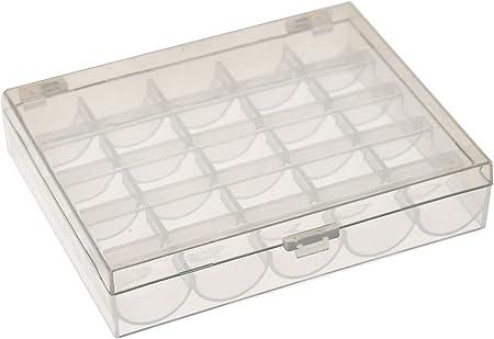Bobbin Box Set Transparent Plastic Box Contains 25 Transparent Bobbin Sewing Machine Accessories #Pennytupu