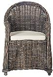 Cheap Safavieh Home Collection Callista Black Wash Wicker Club Chair