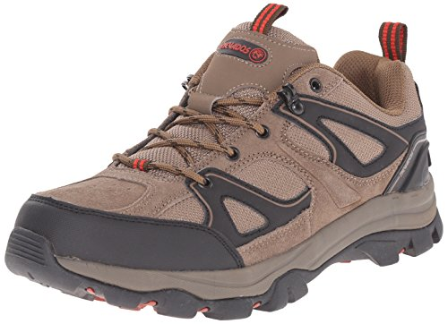 Nevada Leather (Nevados Men's Talus Low Hiking Shoe, Chocolate Chip/Ginger Red, 12 M US)