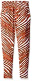 Zubaz NFL Cleveland Browns Women's Zebra Print Leggings Pants, Small, Fire Red/Brown