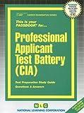Professional Applicant Test Battery (CIA), Jack Rudman, 0837335876
