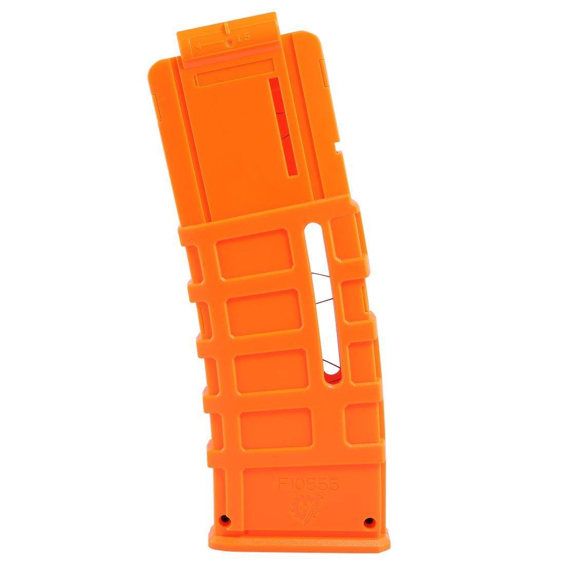 Do co-sport Dart Magazines, Worker F10555 15-Darts Banana Clip Injection Mold Magazine for Nerf N-Strike Elite Blaster Orange