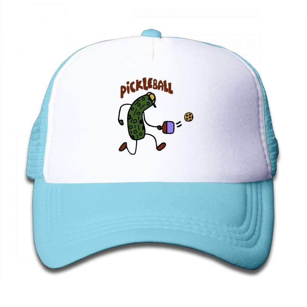 NO4LRM Kid's Boys Girls Pickle Ball Youth Mesh Baseball Cap Summer Adjustable Trucker Hat