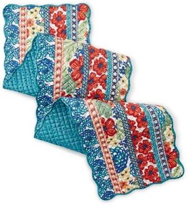 Farm Decor Pioneer Woman Crochet Top Kitchen Towel Dazzling Dahilas Set of 4