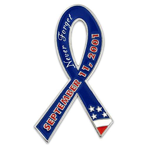 2001 Lanyard - PinMart 9/11 September 11 We Will Never Forget Awareness Ribbon Lapel Pin