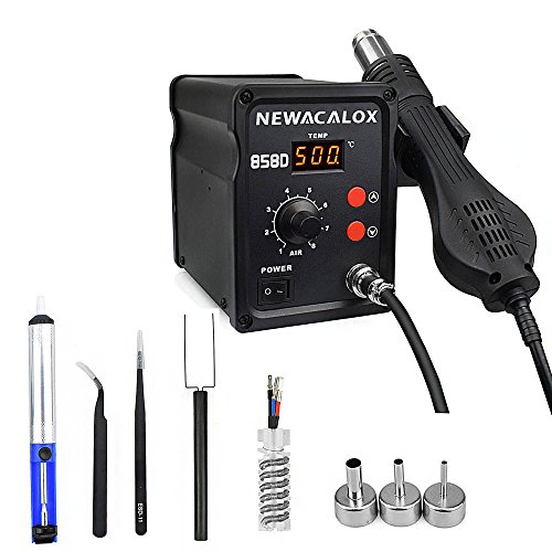 500C Soldering Hot Air Rework Station Thermoregul LED Heat Gun Blow Dryer for BGA IC Desoldering Tool 858D 700W 110V