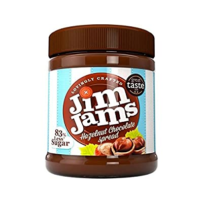 JimJams 83% Less Sugar Hazelnut Chocolate Spread 350g - Pack of 2