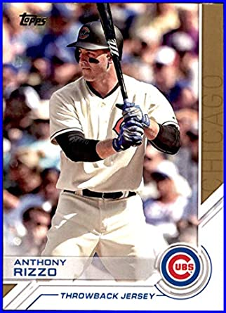 timeless design bb3ed 947bb 2017 Topps Salute #S44 Anthony Rizzo CHICAGO CUBS THROWBACK ...