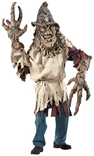 Deluxe Scarecrow Mask (Scarecrow Creature Reacher Deluxe Oversized Mask and Costume)