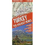 Turkey the Highest Peaks. Trekking map 1 : 100 000