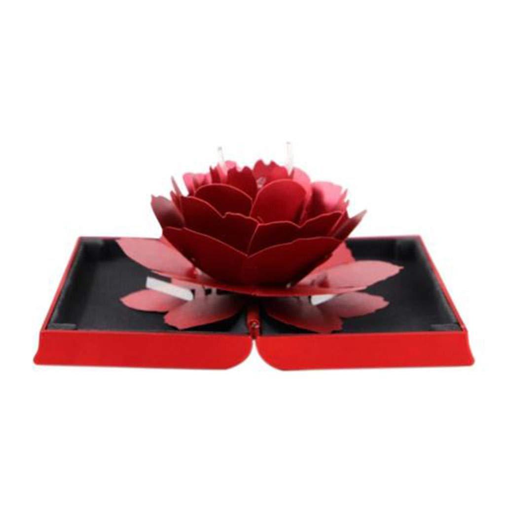 Blau Igemy 3D Pop Up Rose Ring Box Hochzeit Engagement Schmuck Aufbewahrungsbox Fall Bump 2019