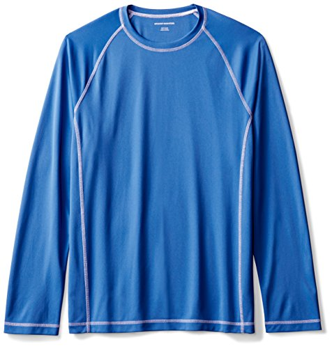 Amazon Essentials Mens Long-Sleeve Quick-Dry UPF 50 Swim Tee, Royal Blue, Large