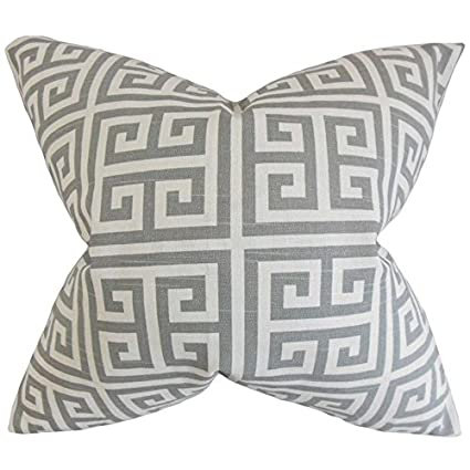 78b212db14d Image Unavailable. Image not available for. Color  The Pillow Collection Paros  Greek Key ...