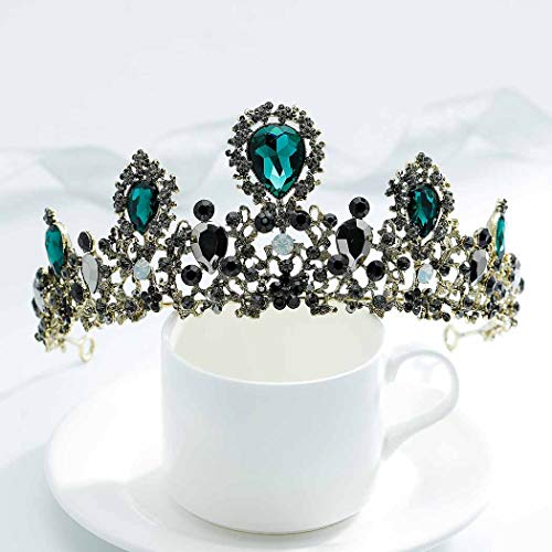 LittleB Baroque Bridal Crown Rhinestone Wedding Tiaras Medieval Crown