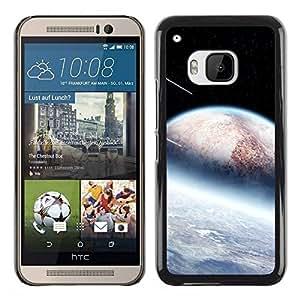 Paccase / SLIM PC / Aliminium Casa Carcasa Funda Case Cover para - Space Sci Fi - HTC One M9