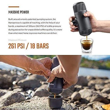 Wacaco Nanopresso máquina de café espresso portátil, versión de actualización para Minipresso, cafetera de viaje para acampar al aire libre o interior: ...