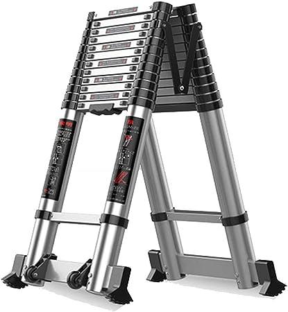 Escalera extensible/ Escalera telescópica Escalera telescópica para Loft - Escaleras portátiles de Aluminio con extensión de Bastidor en Forma de A para el hogar, 2.5 m / 3.28 m (Tamaño : 2.5+2.5m): Amazon.es: Hogar