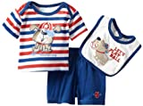 Baby Togs Baby-boys Newborn Dog 3 Piece Short And Bib Set