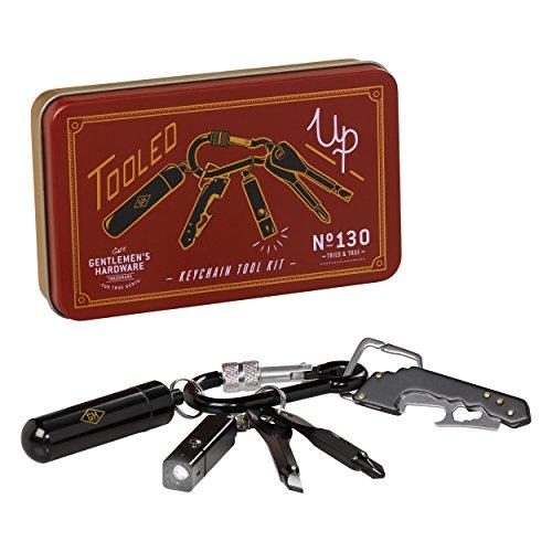 Keychain Tool Kit - Gentlemen's Hardware 6-Piece Stainless Steel Durable Key Chain Tool Kit Set