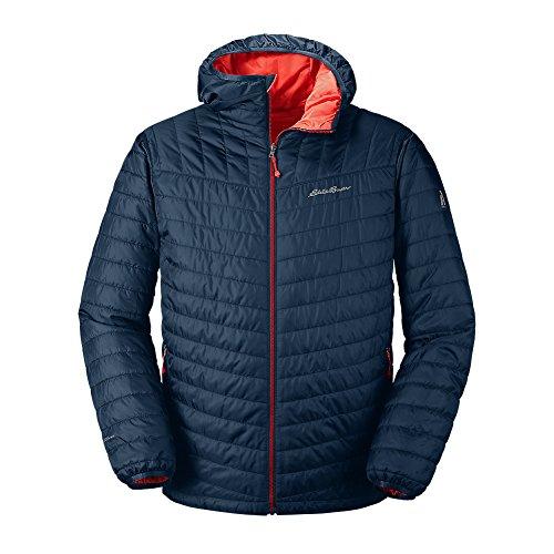Eddie Bauer Men's IgniteLite Reversible Hooded Jacket, Med Indigo Regular (Reversible Hooded Jacket)