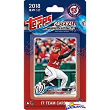 Washington Nationals 2018 Topps Baseball EXCLUSIVE Special Limited Edition 17 Card Complete Team Set with Bryce Harper, Victor Robles ROOKIE & Many More Stars & RC's! Shipped in Bubble Mailer! WOWZZER