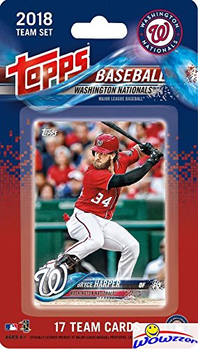 Washington Nationals 2018 Topps Baseball EXCLUSIVE Special Limited Edition 17 Card Complete Team Set with Bryce Harper, Victor Robles ROOKIE & Many More Stars & RC's! Shipped in Bubble Mailer! WOWZZER (Set Mlb Team Topps)