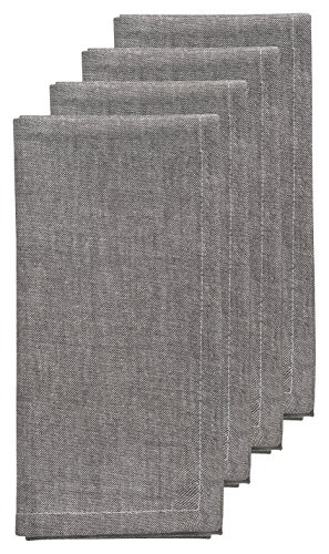 Now Designs Chambray Napkins Pewter